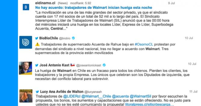 Huelga WALMART twitts destacados